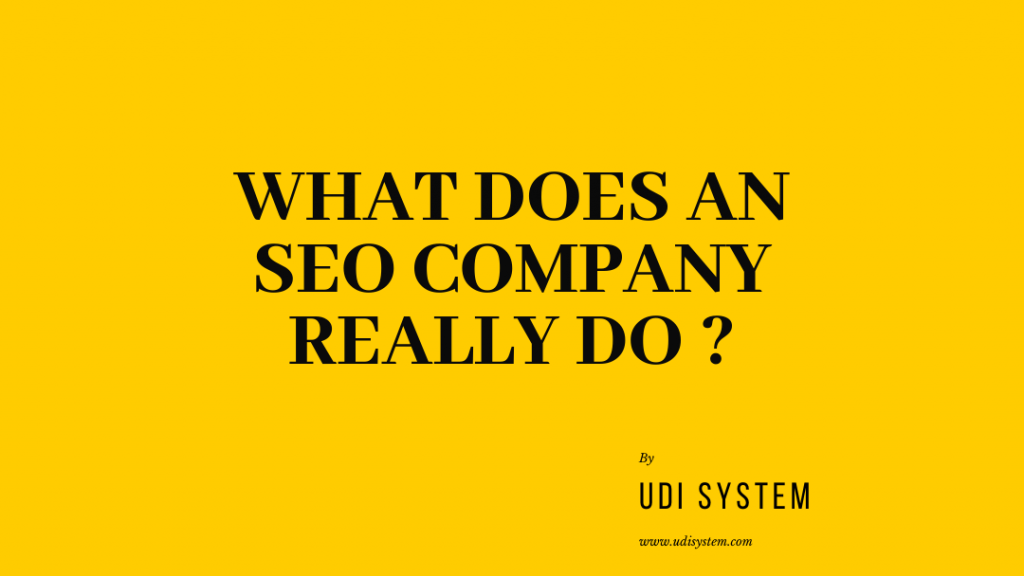what does an seo company do